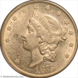 1875-CC Gold Double Eagle PCGS AU55
