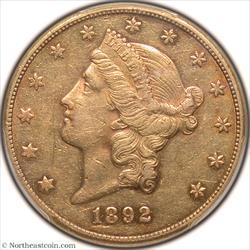 1892-CC Gold Double Eagle PCGS AU50
