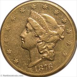 1876-CC Gold Double Eagle PCGS XF40