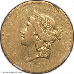1850-O Gold Double Eagle NGC VF35