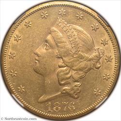 1876-CC Gold Double Eagle NGC AU58