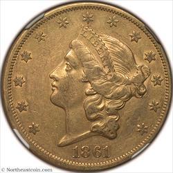 1861 Gold Double Eagle NGC XF45