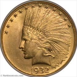 1932 Gold Eagle NGC MS63