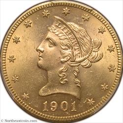 1901-S Gold Eagle PCGS MS64