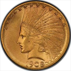 1908-S Gold Eagle PCGS MS65