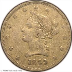 1844-O Gold Eagle PCGS VF25
