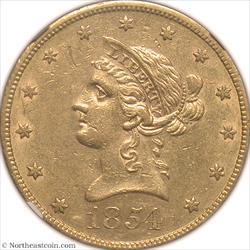 1854-S Gold Eagle NGC AU58