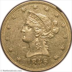 1846 Gold Eagle NGC AU55