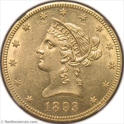 1893-CC Gold Eagle NGC AU58
