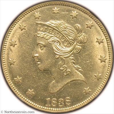 1838 Gold Eagle NGC MS62