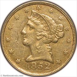 1852-C Gold Half Eagle PCGS XF45