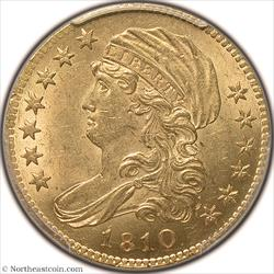 1810 Small Date, Tall 5 Gold Half Eagle PCGS MS63