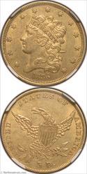 1836 Gold Half Eagle NGC AU58