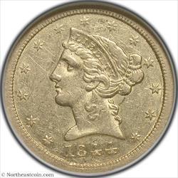 1844-O Gold Half Eagle NGC AU53
