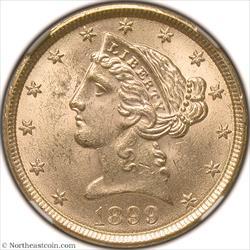1899 Gold Half Eagle NGC MS63