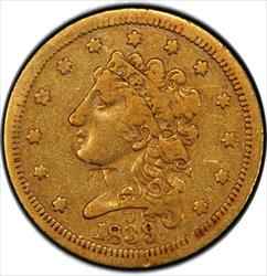 1839-D Gold Quarter Eagle PCGS F15