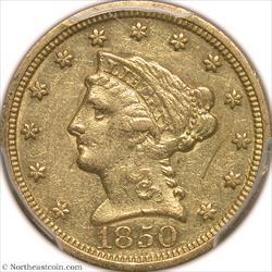 1850-C Gold Quarter Eagle PCGS XF45