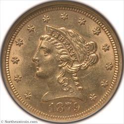 1879 Gold Quarter Eagle NGC MS62