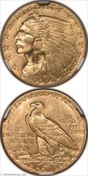 1914-D Gold Quarter Eagle NGC MS64