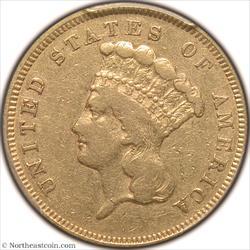 1855-S Gold Three Dollar PCGS VF25