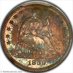 1859 Half Dime PCGS PR65