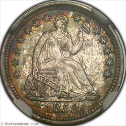 1853-O Arrows Half Dime NGC MS62