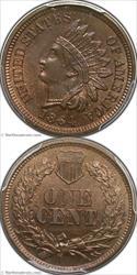 1864 Bronze Indian Cent PCGS MS65BN