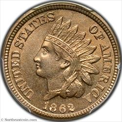 1862 Indian Cent PCGS MS66
