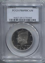 1994-S Kennedy Half Dollar PCGS PR69DCAM
