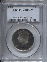 2003-S Kennedy Half Dollar PCGS PR69DCAM