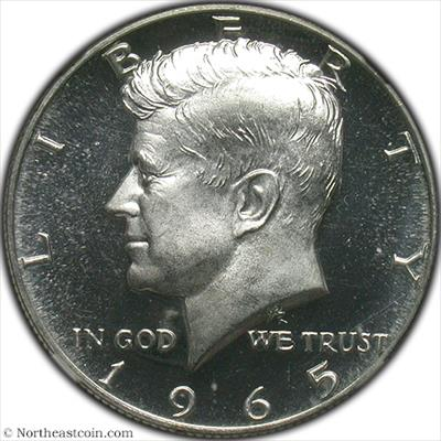 1965 SMS Kennedy Half Dollar NGC MS65UCAM