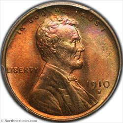 1910-S Lincoln Cent PCGS MS66RD