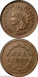 1859 Indian Cent Rim Clip Mint Error ANACS AU50