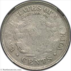 1907 Liberty Nickel Mint Error NGC XF40