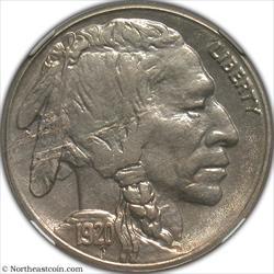 1920-S Buffalo Nickel Obverse Lamination Mint Error NGC MS63