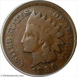 1896 Indian Cent Broadstruck Mint Error ICG G6