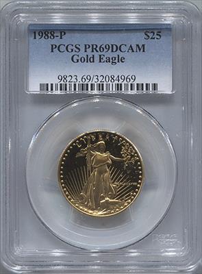 1988-P $25 Modern Gold Eagle PCGS PR69DCAM
