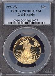 1997-W $25 Modern Gold Eagle PCGS PR70DCAM