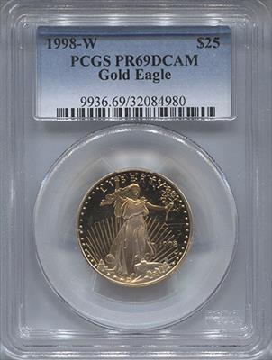 1988-W $25 Modern Gold Eagle PCGS PR69DCAM