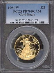 1994-W $25 Modern Gold Eagle PCGS PR70DCAM