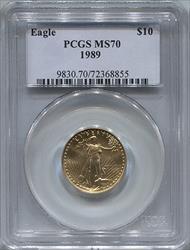 1998 $10 Modern Gold Eagle PCGS MS70