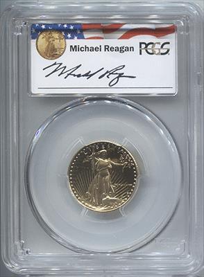 1988-P $10 Regan Legacy Series Modern Gold Eagle PCGS PR69DCAM