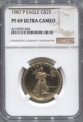 1987-P $25 Modern Gold Eagle NGC PF69UCAM