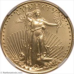 1997 $10 Modern Gold Eagle NGC MS70