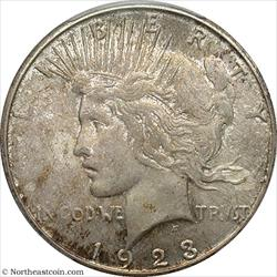 1923-S Peace Dollar PCGS MS63