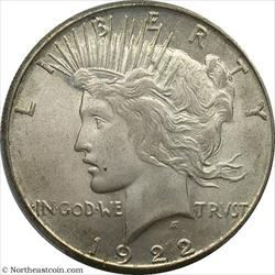 1922-S Peace Dollar PCGS MS64