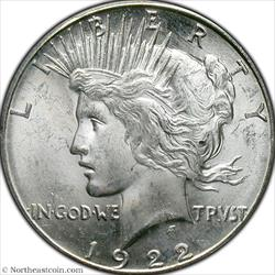 1922-S Peace Dollar PCGS MS63