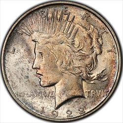 1922-D Peace Dollar PCGS MS66+