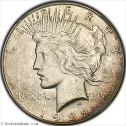 1922-S Peace Dollar NGC MS61
