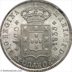 1835 400 Reis Portugal NGC MS66